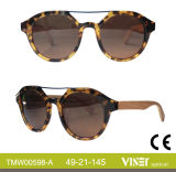 Custom Design Acetate Shape, Wooden and Bamboo Temple Sunglasses (598-A)
