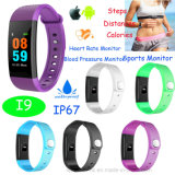 IP67 Waterproof Bluetooth Smart Bracelet for Promotion Gift (I9)