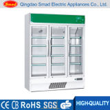 980L Three Doors Commercial Supermarket Beverage Showcase