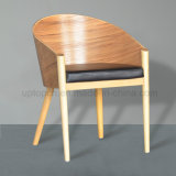 Modern Cafe Used Leather Seat Plywood Tub Chair (SP-EC637)