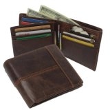 Cow Leather Card Slim Wallet Retro Leather Wallet for Men