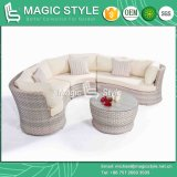 Garden Combination Sofa with Cushions and Pillows Outdoor Wicker Sofa Rattan Leisure Sofa Patio Furniture