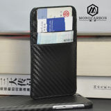 Top Quality Fashion Carbon Fiber PU Business Name Card Holder