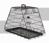 Black Folding Dog Crate Cage