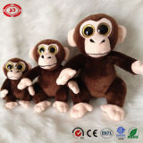 Sittting Soft Plush Big Eyes Brown Kids Gift Monkey Toy