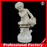 Hand Carved Boy Marble Statue Stone Carving