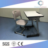 Grey Single Seat School Student Desk & Chair Furniture Sets (CAS-SD1802)