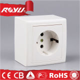 Electric Power Wall Socket Outlet, Surface Mounting Schuko Socket