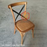 China Outdoor Vintage Vineyard Wood Cross Back Garden Dining Chair