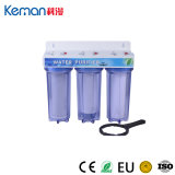 """3 Stage Household 10"""" Clear Housing Water Filter with Steel Bracket"""