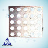 Stone Grain Perforated Hole Aluminum Sheet Metal Used for Outdoor Wall Cladding