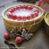 Retro Beads Crystal Charm Women Bracelets Earrings Set Jewelry Gift