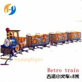 Outdoor Playground and Park 8 Person Seats Luxury Large Children Track Electric Mini Train Game Machine