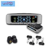 Car TPMS Tire Pressure Monitoring System External/Internal Sensor Auto Alarm System Solar Power Charging Tmps