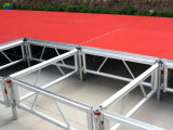 Assemble Stage Aluminum Alloy Glass Stage Folding Stage Portable Aluminum Wooden Platform Mobile Stage for Event