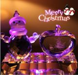 2016 Crystal Glass Apple Craft for Christmas Gift