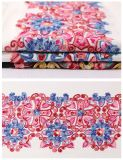 Colorful Palace Style Embroidery Lace Fabric for Garment and Stage Clothing