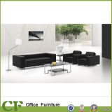 Metal Structure Multi Seater PU Leather Black Office Sofa