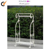 Antique White Iron Towel Rack