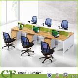 Project Model Factory Wooden 6 Seats Office Table Divider Linear Workstation