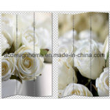Hot Selling Pretty Beautiful Lovely Elegant Flowers Print 3 Panel Canvas/Wooden Screen & Room Dividers