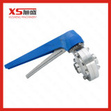 Stainless Steel Sanitary Butt Weld Butterfly Valves with Gripper Handle