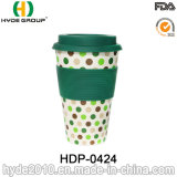 Popular 450ml Bamboo Fiber Coffee Cup with Silicone Lid
