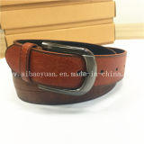 Simple Casual Brown Leather Belt