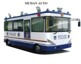 White Blue Traveling Security Police Officer Patrolling Pecial Purpose Vehicles