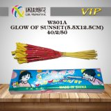 W301-Glow of Sunset Handheld Morning Glories Outdoor Colorful Sparklers 1.4G Fuegos Articiales Chinese Fireworks