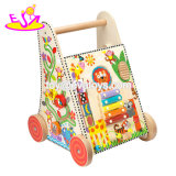 New Arrival Educational Wooden Toddler Walking Toys for Push Along W16e115