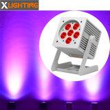 High Power 6PCS 18W IP 65 LED Light Price List Flat PAR Light