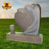 Angel Heart Graveyard Decoration Statue Marble Memorial Gravestone Headstone Tombstone