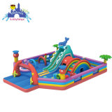 Colorful Inflatable Bouncer Fun City Inflatable Amusement Park