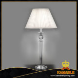 Contemporary Iron Fabric Lampshade Table Light (KATL1556/C+WT)