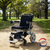 Portable Lightweight Brushless Folding E Electric Wheelchair with LiFePO4 Battery Ce