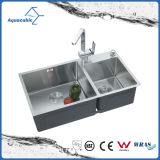 Hand Made Undermount Kitchen Sink with Drainer