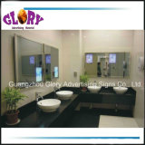 Bathroom LED Sensor Mirror/Motion Sensor LED Advertising Magic Mirror
