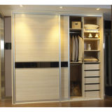E1 Grade Sliding Door MDF Bedroom Wardrobe (S-08)