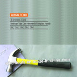 H-160 Construction Hardware Hand Tools American Type Claw Hammer with Yellow Fiberglass Handle