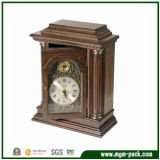 China Wholesale Patterned Wood Desk Clock with Door