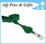Green Polyester Lanyard with Badge Reel