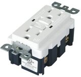 15 AMP, 125 Volt UL GFCI Receptacle, UL Listing, Tamper Resistant
