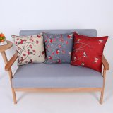 Digital Print Decorative Cushion/Pillow with Birds Pattern (MX-86)