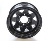Good Price Power Coated Wheels 8 Spoke Steel Trailer Wheels