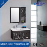 Simple Design Wall Mounted Steel Bathroom Washbasin Cabinet