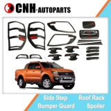 Auto Accessory for Ford Ranger T6 2012 2014, Black Exterior Decoration Kit with Red Letter
