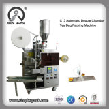 Wholesale Double Chamber Pouch Tea Bag Packing Sealing Machine with Thread and Tag