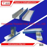 Building Materials Galvanized Drywall Steel C Stud U Track Metal Channel Frame for Gypsum Partition