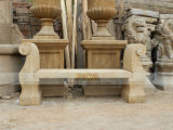 Wholesale Cheap Black Marble Antique Small Bench for Garden
